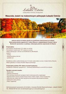 Mazurska Jesień, oferta specjalna