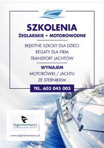 Oferta szkoleń żeglarskich na Mazurach, oferta specjalna