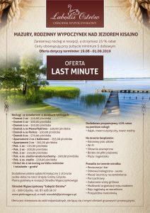 Mazury Last Minute, oferta specjalna
