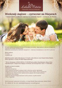 Weekendy majowo – czerwcowe, oferta specjalna